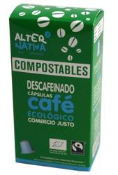 Kawa bezkofeinowa arabica fair trade BIO 10 kapsułek do nespresso