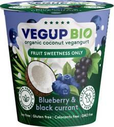 Produkt kokosowy jagoda - czarna porzeczka bezglutenowy BIO 140 g
