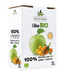 Sok jabłkowy z rokitnikiem nfc BIO 3 l