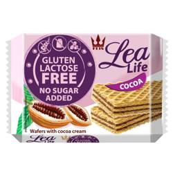 Wafle kakaowe bez glutenu, laktozy i bez dodatku c