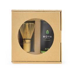 Zestaw herbata zielona matcha w proszku codzienna BIO 30 g + miotełka bambusowa chasen